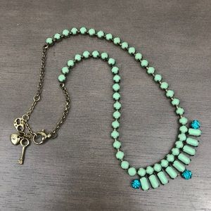 Fossil Sea-foam Green Stone Necklace